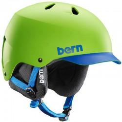 bern - Watts Hard Hat green / blue Brim