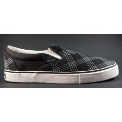 Kustom - Slip on Cheques charcoal black